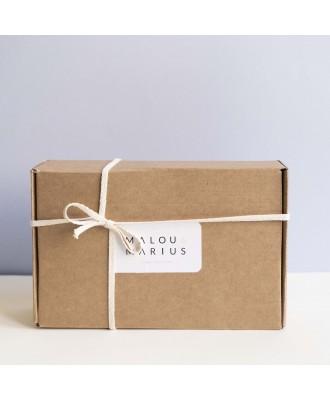 Coffret cadeau Malou & Marius en kraft recyclé.